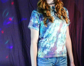 UPCYCLED Rainbow Splatter Tie Dye Tee - Multicolor