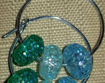 crystal & beaded earrings