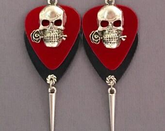 """Guitar Pick Earrings """"Don't Fear The Reaper"""""""