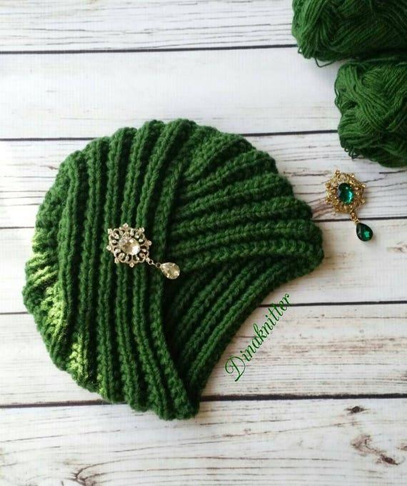 Turban.Knitted turban hat.Wool turban hat.Headwrap turban.Winter turban hat.Knit hat.Knit winter hat for women.Retro turban.Knit turban