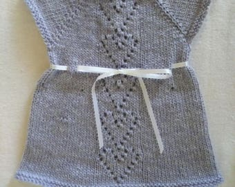 Knit baby dress Lavender newborn