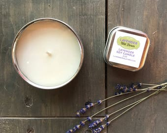 Lavender Candle | Lavender Soy Candle | Clean Burning Soy Candle | Aromatherapy Candle | Lavender Candle Tin | Travel Candle | Lavender
