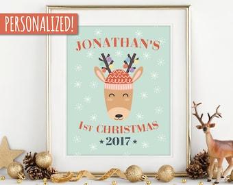 my first christmas, my 1st Christmas, children Christmas , personalized gift, first Christmas, baby's Christmas,festive gift,babyshower gift