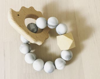 Marble/silicone baby teether