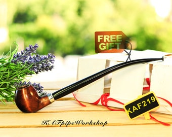 Churchwarden pipe/Gandalf pipe/Lord of the Rings pipe/Tobacco smoking pipe KAF219/Long stem LOTR pipe/Hobbit pipe/Valentines gift