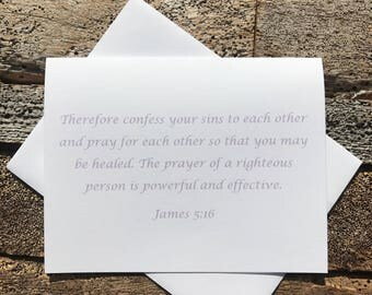 James 5:16 Bible Verse Note Card