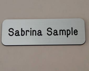 """Engraved magnetic name badge 1"""" x 3"""", Personalized name tags, Magnetic name tag, Engraved Magnetic Name Tag, Magnetic Name Badge, Name Tag"""