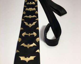 Batman  Necktie, Gold Design