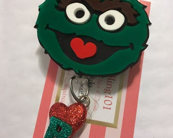 Oscar the Grouch Badge Holder