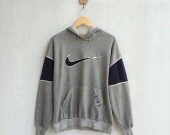 Vintage 90's Nike Hoodie Embroidery Big Logo Nice Design Hip Hop Style