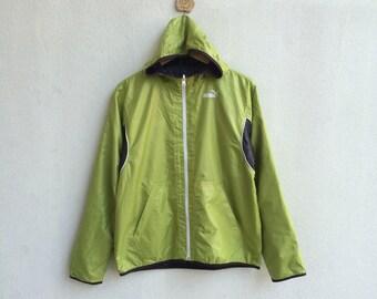 Vintage 90's Puma Windbreaker Reversible Hoodie Jacket Nice Design