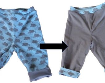 Reversible trousers-100% organic cotton