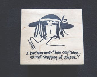 I love him more than anything - Wood Mount Rubber Stamp (1)
