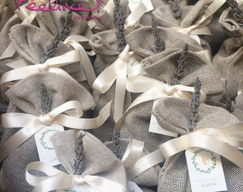 Personalized wedding linen Lavender bag