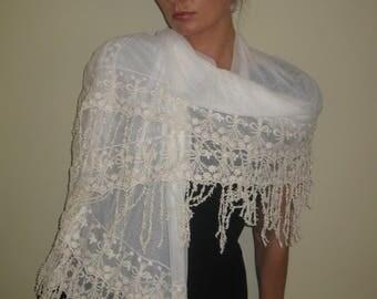 Vintage shawl, Bride's shawl/wraps, Lace shawl