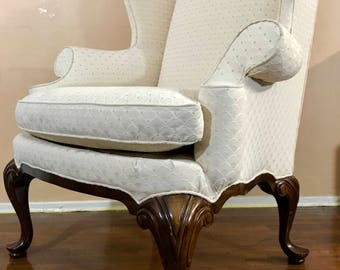 drexel tradition classics queen anne wingback chair