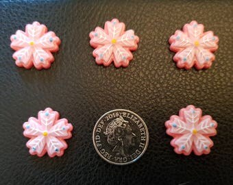 Set of 5 resin snowflakes