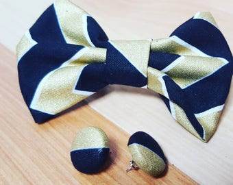 Hair bow with matching earring