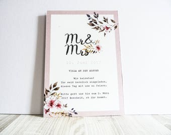 Invitation card - pink dream wedding