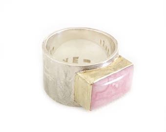 Sterling Rhodochrosite Ring