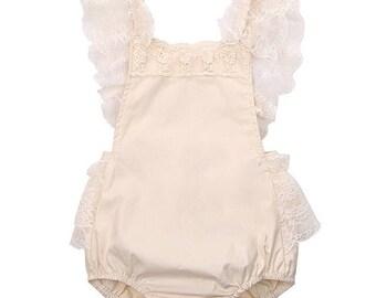 Infant Lace Romper