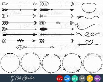 Arrow Circles svg, Arrow vector, Circles arrow svg, Arrow Monogram svg, Circle svg, Arrow frames svg, Arrow monogram frames