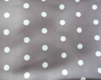 Light gray polyester fabric dots