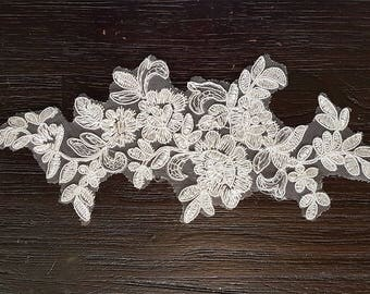 1 pc White Lace Applique Flower Collars Corsage Decor Patches