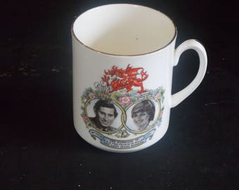 A Classic Commemorative Royal Wedding Mug. Celebrating The Marriage of Charles and Diana