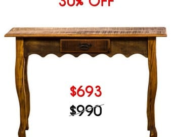Antique Reclaimed Solid Wood Console Table Moving Sale 30% Off