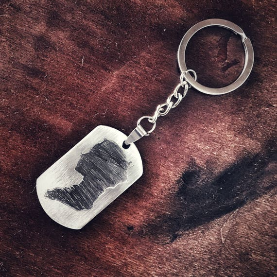 Keychain Lady Hand Engraved by olmo
