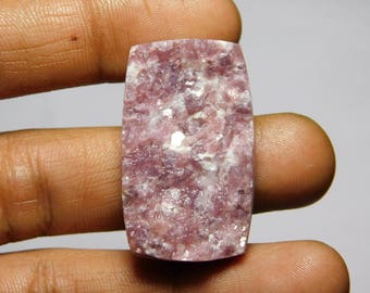 Awesome Lepidolite Druzy gemstone Cabochons Very Gorgeous looking Excellent Quality Natural handmade loose stone 55.70cts (36x21x5)mm