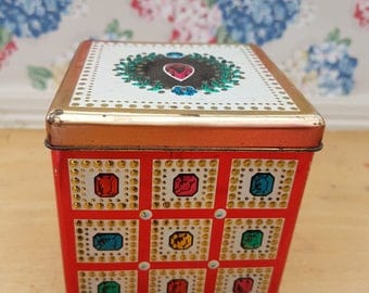 Vintage Blue Bird Toffee Confectionery tin, Harry Vincent Ltd Hunnington, Worcester