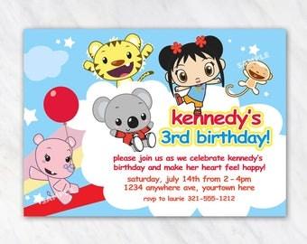 Ni Hao Kai Lan Invitation for Birthday Party - Printable Digital File