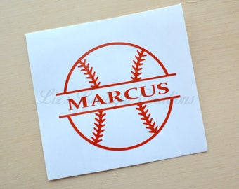 Baseball Decal Etsy - Custom vinyl baseball decals