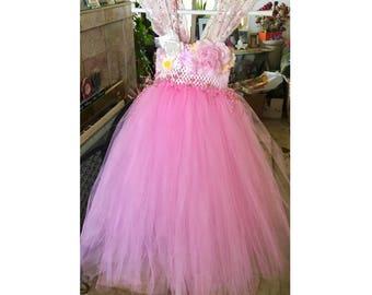 Light Pink Tutu Flower Girl Dress