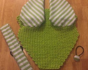 Lime Green Fly Bonnet