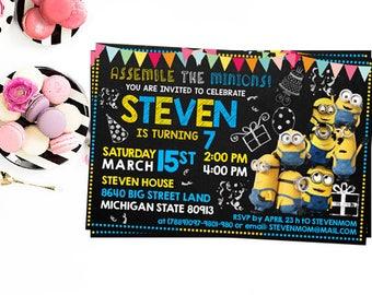 Minion Invitation, Minion Birthday Invitation, Minion Birthday, Minion Birthday Party, Minion Party, Minion Invite, Minion Printables