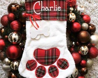 Personalized Pet Stocking, Dog Stocking, Cat Stocking, Paw Stockings, Pet Name Stocking, Pet Christmas Stockings, Animal Stockings