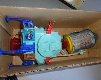 Vintage Battery Operated Space Apollo LUNAR CAPTAIN NASA Tin Toy in Original Box, Modern Toys Japan 1970's