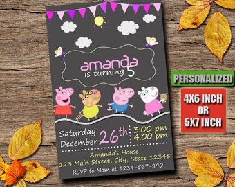 Peppa Pig Invitation  Peppa Pig Birthday Peppa Pig Party Peppa Pig Printable Peppa Pig Birthday Invitation Peppa Pig Peppa Pig Invitations