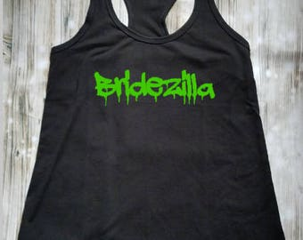 Bridezilla Black Tank Top - Bride to Be Shirt - Engaged Shirt - Engagement Announcement - Fiance - Photography Prop - Getting Married