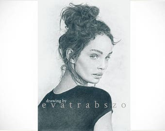 Limited A4 print of my pencil drawing 'Luma', originally signed, limited