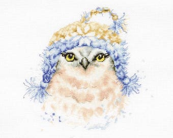 cross stitch pattern counted cross stitch chart cute cross stitch animals home cross stitch kit easy cross stitch for mom owl cross stitch