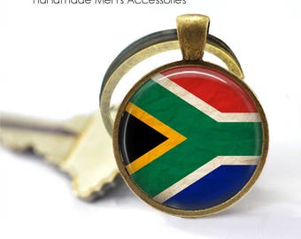SOUTH AFRICA Key Ring • South African Flag • RSA Flag • Vintage South Africa • Gift Under 20 • Made in Australia (K077)