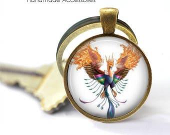 PHOENIX Key Ring • Fire Bird • Rising from The Flames • Flying Phoenix • Fantasy Bird • Gift Under 20 • Made in Australia (K515)