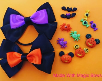 Disney Halloween inspired hair bows