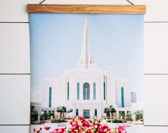 Gilbert LDS Temple. Gilbert Arizona Temple. Gilbert Temple Poster. Gilbert Temple Print. LDS Temple Art.