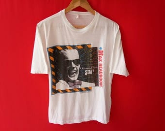 vintage max headroom medium mens 80's t shirt