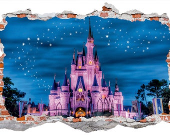Disney Castle Wall Sticker, Wall Decals